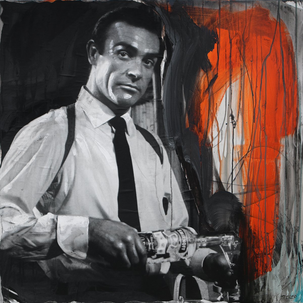 Terese-Andersen-Painting-100x100cm-James-Bond-1